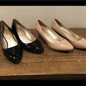 Two pairs of Bandolino Wedges-Size 7-EUC